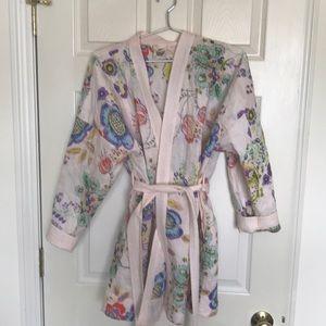 Anthro short bathrobe